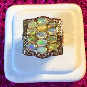 WOW🤩Opal Sterling Silver Ring 🤩 WOW
